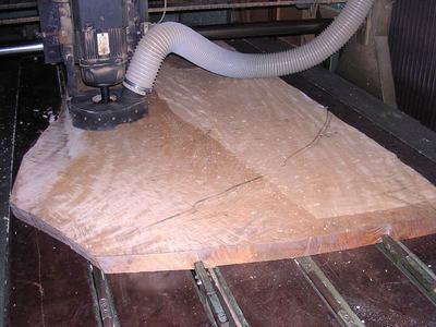 栃耳付き1枚板テーブル天板木裏粗加工
