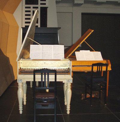 チェンバロとフォルテピアノの写真